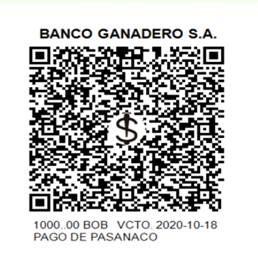 QR Pago de Servicios Banco Ganadero